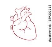 human heart draw | Shutterstock .eps vector #659303113