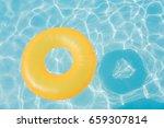 bright orange float in blue...   Shutterstock . vector #659307814