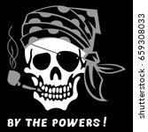 vector image of skull captain... | Shutterstock .eps vector #659308033