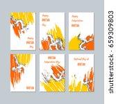 bhutan patriotic cards for... | Shutterstock .eps vector #659309803