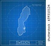 sweden blueprint map template... | Shutterstock .eps vector #659310124