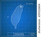 taiwan blueprint map template... | Shutterstock .eps vector #659310604