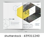 cover design annual report... | Shutterstock .eps vector #659311240