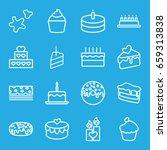 cake icons set. set of 16 cake...   Shutterstock .eps vector #659313838