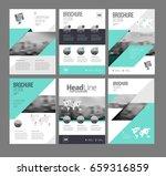 six trendy brochures templates...   Shutterstock .eps vector #659316859