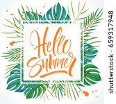 hello summer lettering on... | Shutterstock .eps vector #659317948