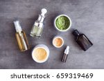 bottles and jars with natural... | Shutterstock . vector #659319469