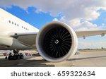 plane waiting for passengers on ... | Shutterstock . vector #659322634