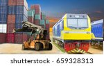 train  stacker and container... | Shutterstock . vector #659328313