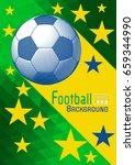 engraving soccer ball and... | Shutterstock .eps vector #659344990