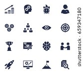 set of 16 business icons set... | Shutterstock .eps vector #659347180