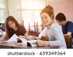 group of asian students  asian... | Shutterstock . vector #659349364