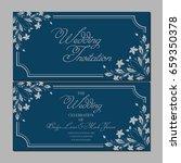 wedding invitation card | Shutterstock .eps vector #659350378