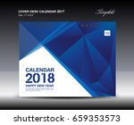blue cover desk calendar 2018... | Shutterstock .eps vector #659353573