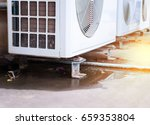 waste water from compressor air ...   Shutterstock . vector #659353804