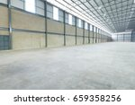 empty warehouse structure made... | Shutterstock . vector #659358256