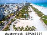 Miami Beach Ocean Drive Aerial...