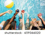 group of diverse friends... | Shutterstock . vector #659366020