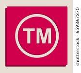 trade mark sign. vector.... | Shutterstock .eps vector #659367370