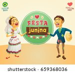 brazilian june party hick... | Shutterstock .eps vector #659368036