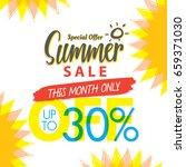 summer sale set v.4 30 percent...   Shutterstock .eps vector #659371030