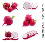Radish Isolated On White...