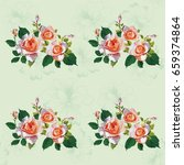 seamless floral pattern with... | Shutterstock .eps vector #659374864