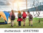 group of family traveler... | Shutterstock . vector #659375980