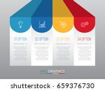 business info graphic template... | Shutterstock .eps vector #659376730
