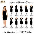 fashion model woman in little... | Shutterstock .eps vector #659376814