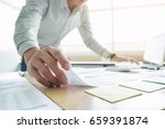 business man working at office... | Shutterstock . vector #659391874