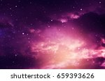 space of night sky with cloud... | Shutterstock . vector #659393626