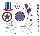 vector patriotic graphics with... | Shutterstock .eps vector #659394040