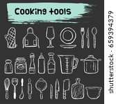 cooking tools doodle icon... | Shutterstock .eps vector #659394379