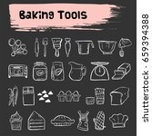 baking tools doodle icon bakery | Shutterstock .eps vector #659394388