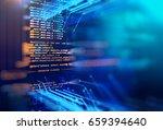 programming code abstract... | Shutterstock . vector #659394640