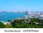 Pattaya Beach On The Top View...