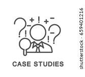 icon case studies. businessman... | Shutterstock .eps vector #659401216