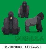 ape gorilla cartoon vector... | Shutterstock .eps vector #659411074