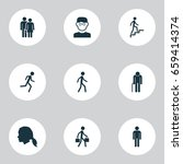 human icons set. collection of... | Shutterstock .eps vector #659414374