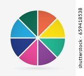 infographic template pie charts ... | Shutterstock .eps vector #659418538