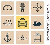 vehicle icons set. collection... | Shutterstock .eps vector #659418976
