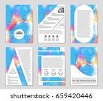 abstract vector layout... | Shutterstock .eps vector #659420446