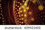 gold glitter particles... | Shutterstock . vector #659421403
