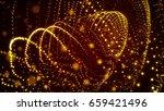 gold glitter particles... | Shutterstock . vector #659421496