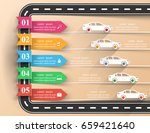 abstract 3d digital... | Shutterstock .eps vector #659421640