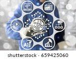 microchip industrial cpu... | Shutterstock . vector #659425060