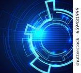 futuristic blue background... | Shutterstock .eps vector #659431999