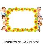 sunflower frame and three... | Shutterstock .eps vector #659440990