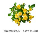 Yellow Roses Bouquet Isolated...